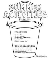 Summer Activities Bucket List