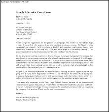 Art Teacher Cover Letter Examples Sample Education Letters For Position