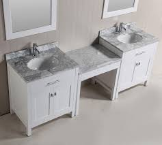 Double Sink Vanity With Dressing Table by Double Sink Vanity With Makeup Area Makeup And Beauty