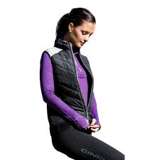 cinch western vest womens athletic quilted poly zip black