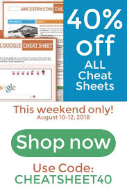 This Big 40% Off Discount Is Good On ALL Genealogy Cheat Sheets ... 23andme Vs Ancestry Dna An Unbiased Uponsored Review Coupon 23andme Or Bargain Rue 21 Printable Coupons October 2018 Ancestrydna Discount For 40 Off An Test Kit Best Deals 2019 Offers Discounts On World Market Free Shipping Jack Rogers Wedge Sandals Owler Reports Couponspig Blog 25 Smile Software 2016 Your Genetic Genealogist Coupon Code Ancestry Com Mastering Search Easy Tips To Help You Uncover More Records Personal Only 4844 At Target A Explorer Code Home Facebook