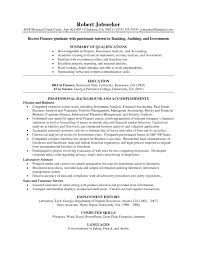 Investment Banking Resume Template Wealth Management