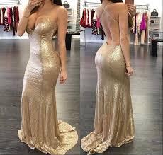 sparkle rose gold prom dresses 2016 spaghetti sweetheart