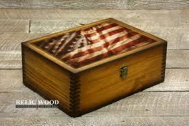American Flag Challenge Coin Display Box