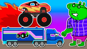 Pig #Hulk #Monster #Truck Racing / Monster Trucks Crashes ... 100 Bigfoot Presents Meteor And The Mighty Monster Trucks Toys Truck Cars For Children Cartoon Vehicles Car With Friends Ambulance And Fire Walking Mashines Challenge 3d Teaching Collection Vol 1 Learn Colors Colours Adventures Tow Excavator The Episode 16 Tv Show Monster School Bus Youtube