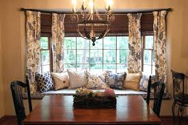 Dining Room Curtains Window Seat In Bay And Valances