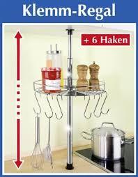 wenko teleskop rundregal inl 6 haken küchenregal rund 30 cm klemmregal teleskop regal für küche ablage für küchenhelfer