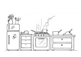 Coloring Page Kitchen Room Buildings And Architecture 10
