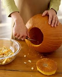 Best Way To Carve A Pumpkin Lid by How To Carve A Pumpkin Martha Stewart