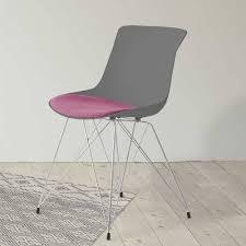 esszimmer stühle in grau violett darcona 2er set