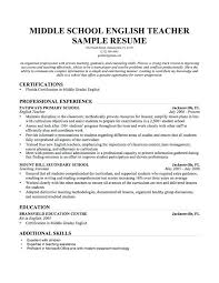 Sample Middle School Teacher Resume High Guidance Counselor Cover Letter Picture Collection Website