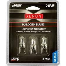 buy the feit elec bpxn20 g8 3 light bulb xenon halogen 120v