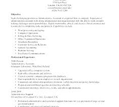 Clerical Resume Template Inroads Administrative Sample For General Office Clerk Assistant