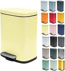 spirella kosmetikeimer 5 liter edelstahl mit absenkautomatik und inneneimer badezimmer mülleimer softclose abfalleimer gelb matt