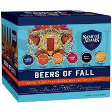 Sam Adams Pumpkin Ale 6 Pack by Order Samuel Adams Beers Of Fall Variety Pack Glass Bottles