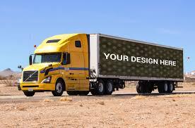 100 Truck Advertising Container Mockup MockupBlast