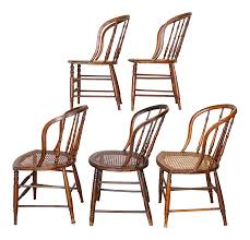 100 Primitive Accent Chairs 19th Century Vintage Cane Seat Spindle Back Windsor Bow Back