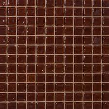 inch transparent brown glass tile