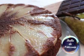 dessert aux poires leger gâteau léger poires chocolat bulle de pâtisserie