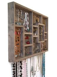 Jewelry Organizer Display Case Earring Holder