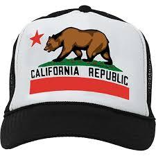 Dolphin Shirt Co California State Flag Snapback Mesh Truckers Cap Baseball Hat