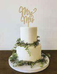 Mr And Mrs Cake Topper Laser Cut Wood Wedding