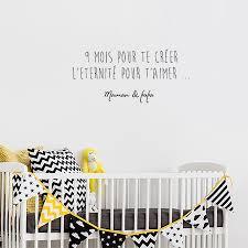 autocollant chambre bébé sticker texte enfant autocollant citation pour chambre de bébé