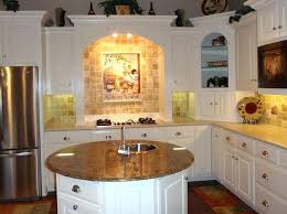 How To Decorate A Small Kitchen Rounded Marble Island With Chrome Bowl Sink Also