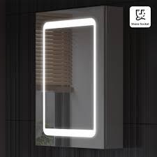 aura 60cm mirror bathroom cabinet with led lights bathroom cabinets