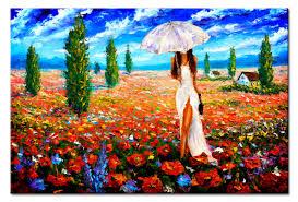 wandbild with umbrella