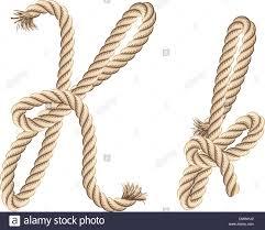 Rope Alphabet Letter K Stock Vector Art Illustration Vector