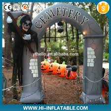 Gemmy Inflatable Halloween House by Inflatable Halloween Cemetery Inflatable Halloween Cemetery