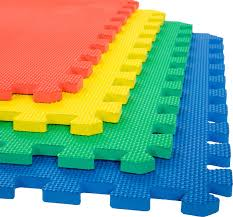 stalwart interlocking foam floor mats multi color 24x24x 5