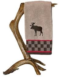 deer antler hand towel bar stand by mountain mikes