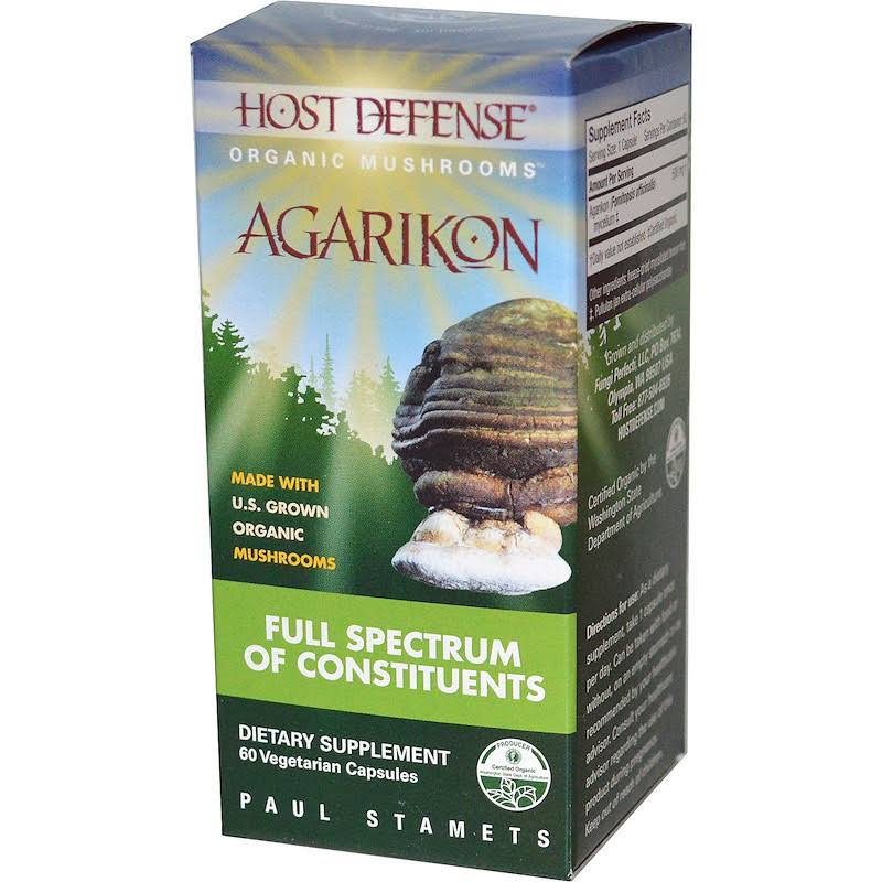 Host Defense Metabolic Support Agarikon, Vegetarian Capsules - 60 count