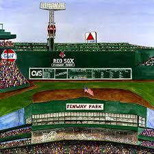 ceramic tile coaster boston baseball boston sports