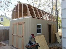 10 X 16 Shed Plans Gambrel by Mikes Motorcycle Shed