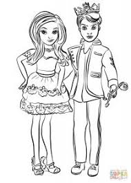 Ben And Mal Coloring Page