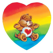 Tenderheart Bear In A Rainbow Heart Ositos Cariñosos