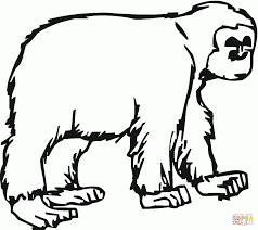 Gorilla Free Coloring Page