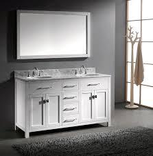 72 Inch Wide Double Sink Bathroom Vanity by Virtu Usa Md 2060 Wmro Wh Caroline 60 Inch Bathroom Vanity With
