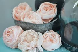 DIY Fabric Peonies Or Cabbage Roses Tutorial By The Mommy