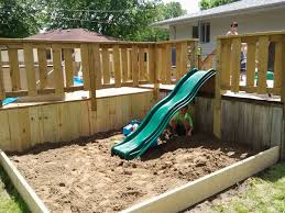 Sandbox With Slide Off Of Deck | Pool Stuff | Pinterest | Off Of ... Sandbox With Accordian Style Bench Seating By Tkering Tony How To Make A Sandpit Out Of Stuff Lying Around The Yard My 5 Diy Backyard Ideas For A Funtastic Summer Build 17 Plans Guide Patterns In Easy And Fun Way Tips Fence Dog Yard Fence Important Amiable March 2016 Lewannick Preschool Activity Bring Beach Your Backyard This Fun The Under Deck Playground Between3sisters Yards