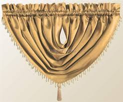 Ebay Curtains With Pelmets Ready Made by Luxury Destiny Faux Silk Beaded Tassled Voile Swag Curtain Drapes