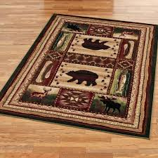 Outstanding Area Rugs Magnificent Rustic Bear Wilderness Black Rug With Regard To Ordinary