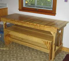 small kitchen tables free trestle table plans for the home