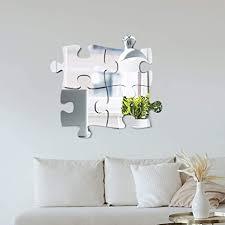 puzzle spiegel wandaufkleber 4 6 stück 3d spiegel kunst