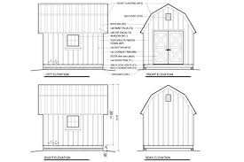10x12 colonial shed plans elevations shed pinterest colonial