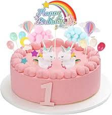 colmanda tortendeko geburtstag einhorn tortendekoration happy birthday cake topper tortendeko einhorn geburtstag einhorn deko luftballon kuchen