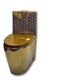 goldene toilette exklusive luxus gold stand wc